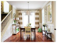 A Thoughtful Place: Do it Yourself: Striped Drapes Tutorial
