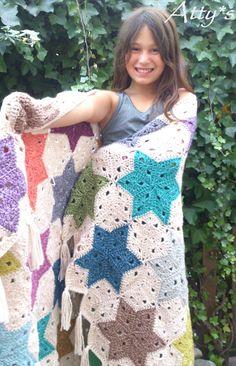 Crochet Star Blanket https://www.facebook.com/pages/Attys/285033854868633?ref=hl
