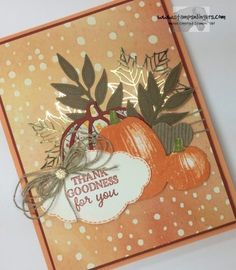 Stampin' Up! Gourd Goodness and Pumpkin Leaves for the Amy's Inkin' Krew Team Blog Hop! | Stamps – n - Lingers