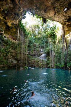 Ikil Cenote - Swim break outside Chichen Itza, in the State of Yucatán, Mexico.
