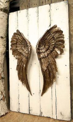 Wanddeko - Engelsflügel Wandbild Dekoration Engel Flügel - ein Designerstück von…