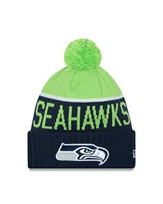a8ba71929 Men s New Era Neon Green Seattle Seahawks On-Field Sport Knit Hat with Pom