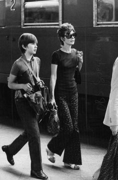Audrey Hepburn photographed with her son Sean H. Ferrer and her husband Dr. Andrea Dotti at the Stazione Termini, on Piazzale dei Cinquecento in Rome (Italy), on July 04, 1972.