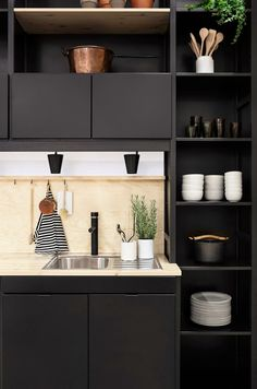 Modern Kitchen Design Lundia kitchen /Joanna Laajisto - There are a lot of creative ways to organize the spaces in your kitchen, and these eagle-eyed pinners will have you actually pining to rethink your kitchen storage options—from cabinets, to kitchen… Kitchen Dinning, New Kitchen, Kitchen Decor, Kitchen Ideas, Kitchen Nook, Kitchen Styling, Dining Table, Black Kitchens, Home Kitchens