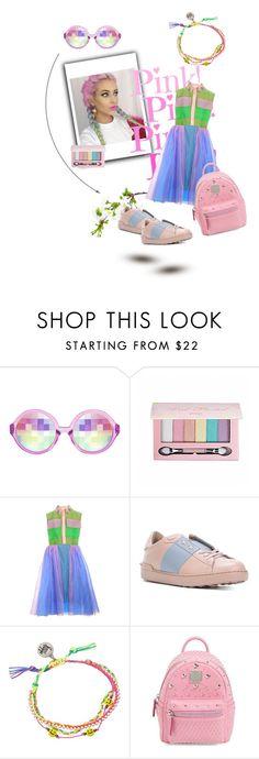 """Organza dress"" by xfrodo ❤ liked on Polyvore featuring Pop Beauty, Valentino, Venessa Arizaga, MCM, Pink, dress, colourful, japan and harajuku"
