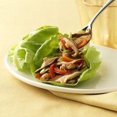 Shiitake and Chicken Lettuce Wraps | Mushroom Info