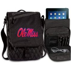 Ole Miss IPAD BAGS TABLET CASES University of Mississippi College Logo Holders Tablets, E-readers Netbooks Ipads, Ipad 2, Kindle, Nook (Electronics)