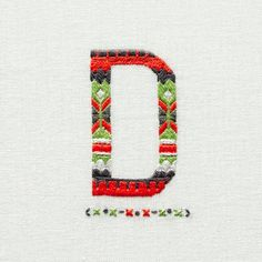 Esquire UK Magazine - Embroidered Typography by MaricorMaricar , via Behance