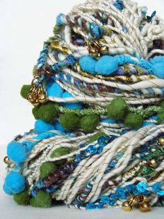 Hand Spun Art Yarn - SHEETAL by Yarnmantra