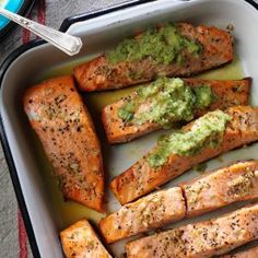 Ginger Salmon with Cucumber Lime Sauce Recipe -Lime and ginger are one of my favorite flavor combos, especially with grilled salmon. So good. Even with the cucumber sauce, this recipe is easy, too. —Noelle Myers, Grand Forks, North Dakota