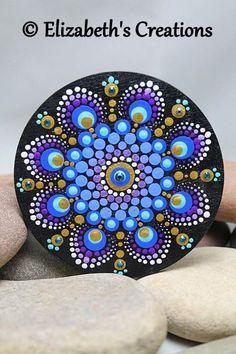 Mandala Art - Mandala - Painted Mandala Wood Magnet- Hand Painted Mandala - Dot Art - Pointillism - Mediation Mandala