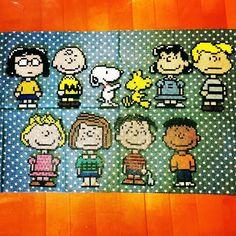 Peanuts perler beads by miwa_109