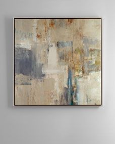 Strokes of blue burst through muted neutrals in this beautiful abstract piece. Pair it with a neutral space for a perfect complement or use ...