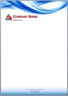Here is a Blue Waves Letterhead Template that can be used by art themed business companies to impress their clients. This letterhead template is created using MS Word so that anyone can easily cust…