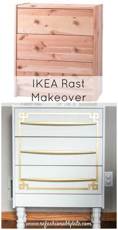 IKEA Rast Makeover www.refashionablylate.com