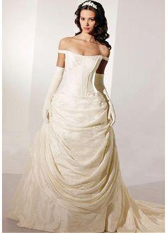 Beautiful Elegant Exquisite Taffeta Wedding Dress In Great Handwork                                                                                                                                                                                 More