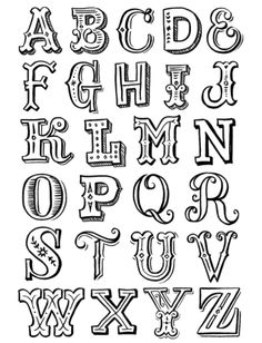 Another good lettering alphabet guide. Hand Lettering Alphabet, Alphabet Design, Doodle Lettering, Creative Lettering, Types Of Lettering, Calligraphy Letters, Typography Letters, Lettering Design, Caligraphy