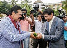 President Mahinda Rajapaksa participated at a special youth conference organised by Former Captain of the National Cricket team, TM Dilshan and his Youth foundation this morning in Delkanda.