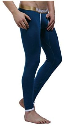 50f99383857dbe Men's Thermal Pants,Model Base Layer Soft than Cotton Sexy Underwear Long  Johns Thermal Pants