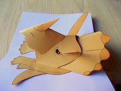 Four-eared bunny: Dinosauruskortti Pop Up, Envelopes, Paper Crafts, Diy Crafts, Up Book, Kids Cards, Crafts For Kids, Bunny, Scrapbooking