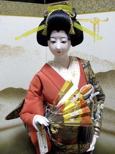 Japanese Vintage Doll Oyama Ningyo Samurai's Wife Jumbo Sukiyo Signed 7244   eBay