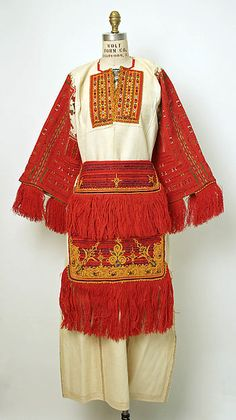 Macedonian apparel made of wool, cotton, silk, metallic thread. Late 19th - early 20th c. © The Metropolitan Museum of Art