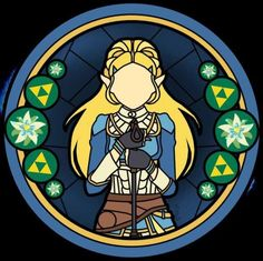 (X-post from r/Zelda) My friend made me this stain glass design of BotW Zelda
