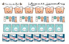 Kawaii laundry icons by TaraKayDesigns on Etsy