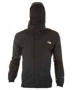 North Face Resolve Jacket Mens AR9T-JK3 Tnf Black Waterproof Outdoor Size XL