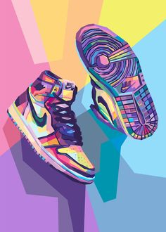 Dope Wallpaper Iphone, Dope Wallpapers, Nike Wallpaper, Backgrounds Dope, Wallpaper Art, Jordan Shoes Wallpaper, Sneakers Wallpaper, Fond Pop Art, Jordan Painting