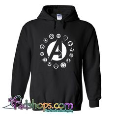 Avengers Team Logo Hoodie SL Avengers Hoodie, Avengers Team, Fur Jacket, Jacket Style, Jacket Dress, What Team, Fur Bomber, Hooded Sweatshirts, Hoodies