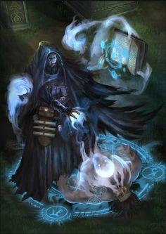 Fantasy Wizard, Fantasy Rpg, Medieval Fantasy, Dark Fantasy Art, Fantasy Artwork, Dnd Wizard, Fantasy Character Design, Character Concept, Character Art