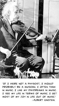 Albert Einstein on music - Interesting, as music is such a mathematical art form.