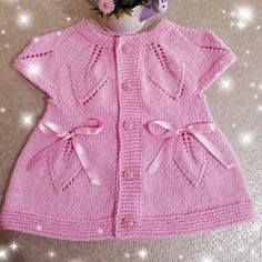 Best 12 Making Baby Vest with Fishing Line Skewers Crochet Baby Sweaters, Knitted Baby Clothes, Knitted Baby Blankets, Crochet Clothes, Knit Baby Dress, Baby Cardigan, Baby Dress Patterns, Baby Knitting Patterns, Handmade Kids Bags