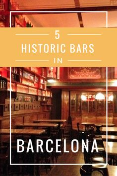 Looking for great bars in Barcelona? Take a tipsy trip back in time with these five historic bars in Barcelona. You'll feel like you've been transported to another century with these spots!