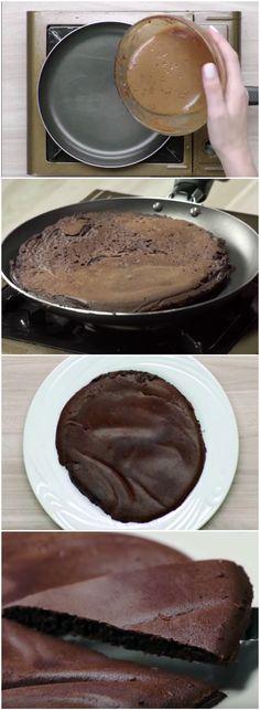 Panqueca de Chocolate SEM FARINHA! Extremamente deliciosa!!! (veja a receita passo a passo) #panqueca #panquecadechocolate #panquecasemfarinha