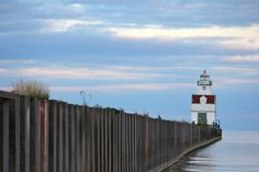 Lighthouse in Kewaunee, WI