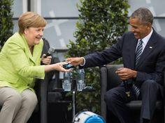 Obama confiesa sus preferencias hacia los alemanes