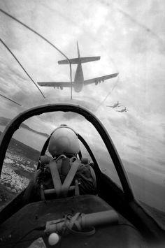 B/W.military airforce pilot