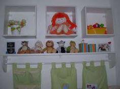 Resultado de imagem para estante de parede para quarto de bebe