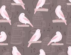 pretty bird pattern