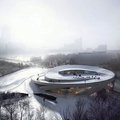 #architecture_hunter  Allied Works Architecture designs Ohio Veterans Memorial and Museum Via: @whisky.arch