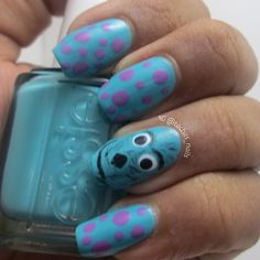 Sulley from Monsters Inc. nails