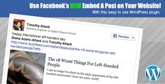 See More Facebook Embedded Posts WordPress Shortcodeyou will get best price offer lowest prices or diccount coupone