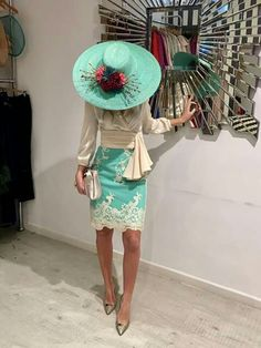 create an account or log Kentucky Derby Hats, Vestidos Vintage, Mother Of The Bride, Party Dress, Hat Party, Fashion Dresses, Dress Up, Classy, Glamour