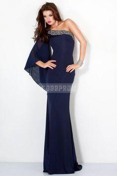 Long Sleeve Chiffon Long Fall Evening Dress