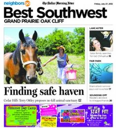 07/27 Pets and Their People: Cedar Hill resident Terry Otley has added horses to her fostering duties.