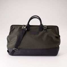 Man bag? Or weekender satchel? Either way, I love the doctor's bag styling!