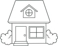 how to draw a house for kids step 8 - Painting Sketches For Kids