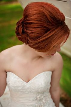 Sideview of this classy updo